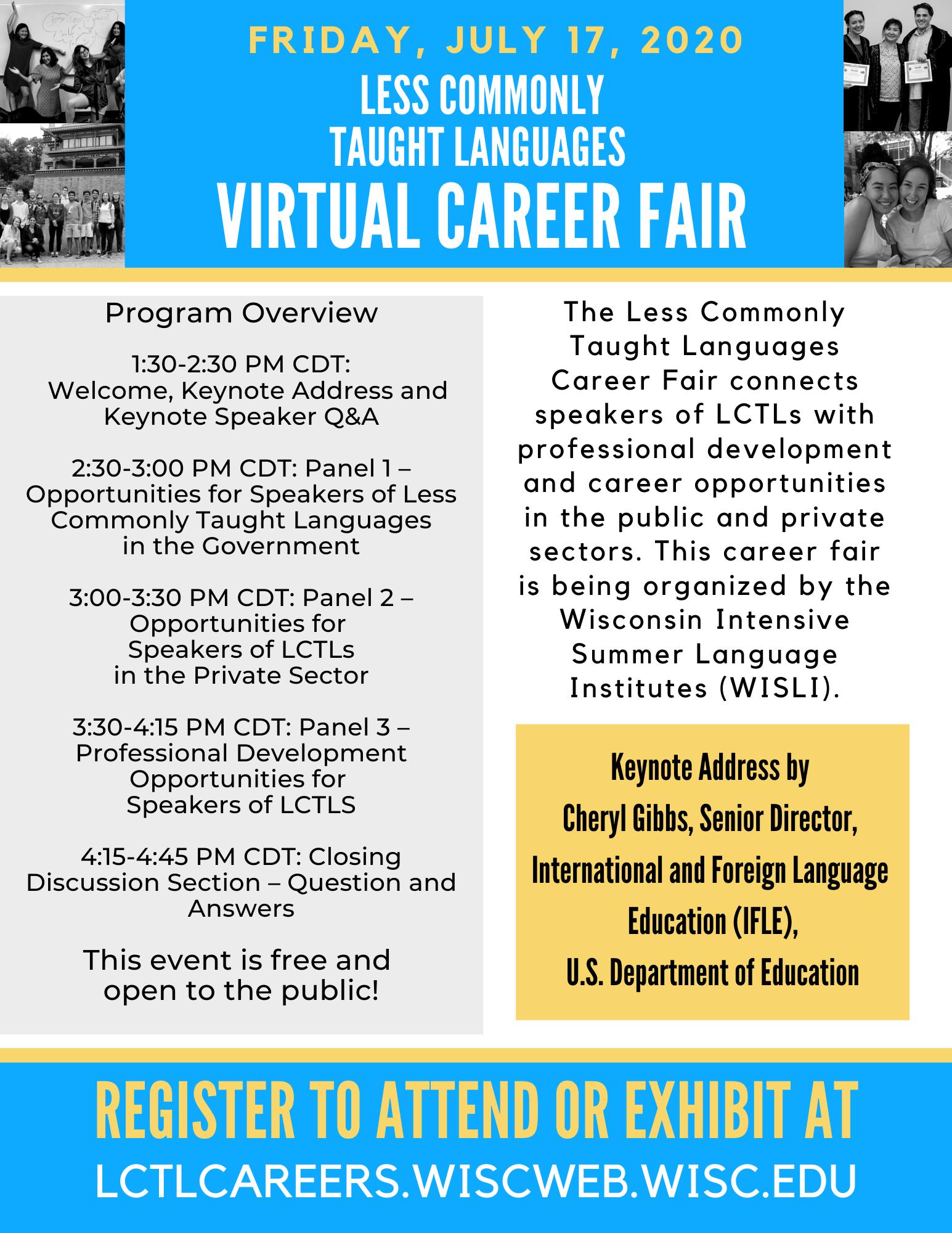 LCTL Career Fair Agenda